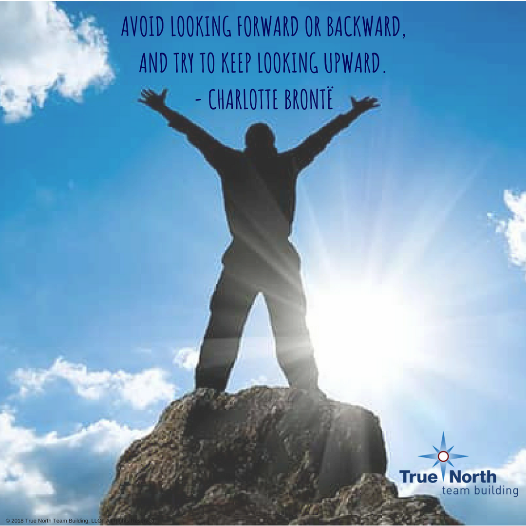 avoid looking forward or backward