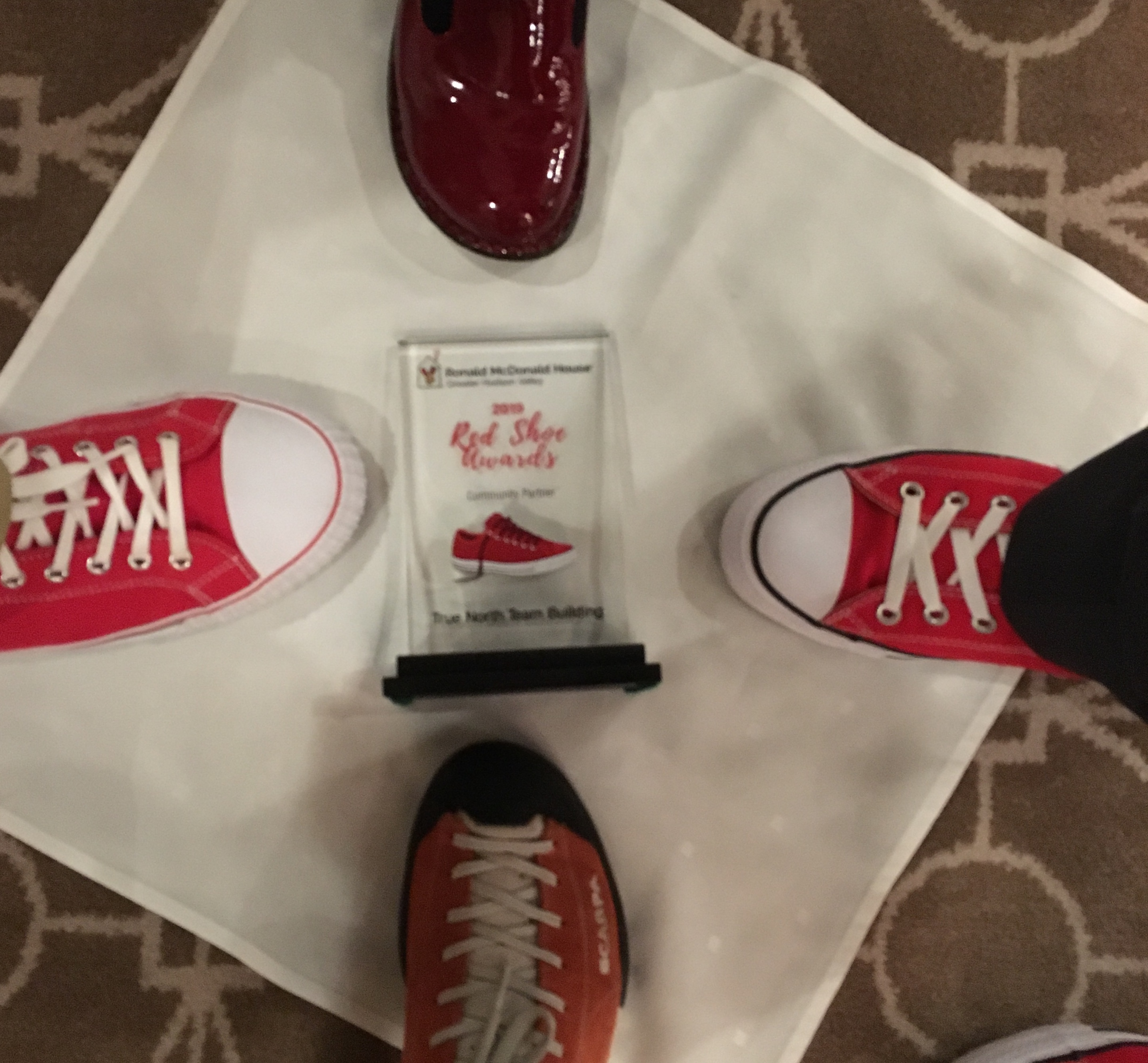 Red shoes and award